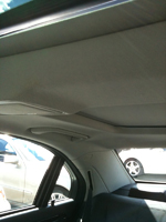 Repaired vehicle ceiling