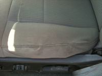Repaired car seat cover